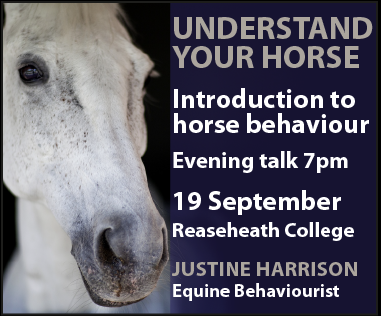 Justine Harrison Talk Reaseheath (Powys Horse)