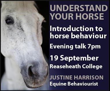 Justine Harrison Talk Reaseheath (Powys Horse)